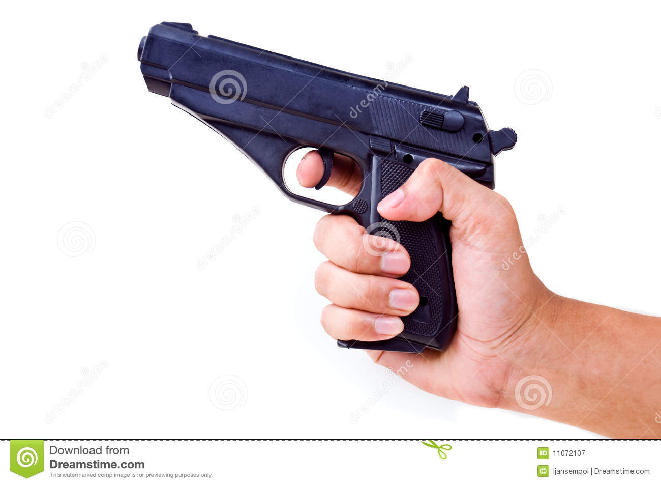 Hand Holding Pistol Royalty Free Stock Photography - Image ...