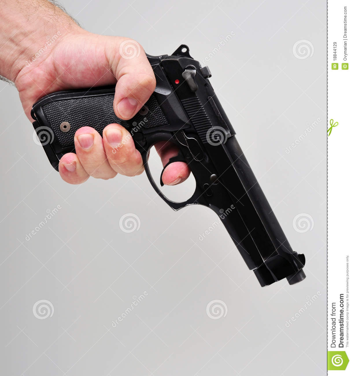 Hand holding a pistol stock image. Image of criminal ...