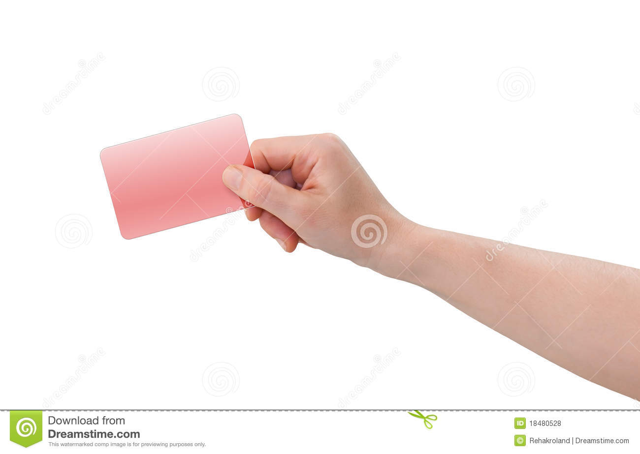 Hand Holding Plastic Business Or Credit Card Stock Photo - Image ...