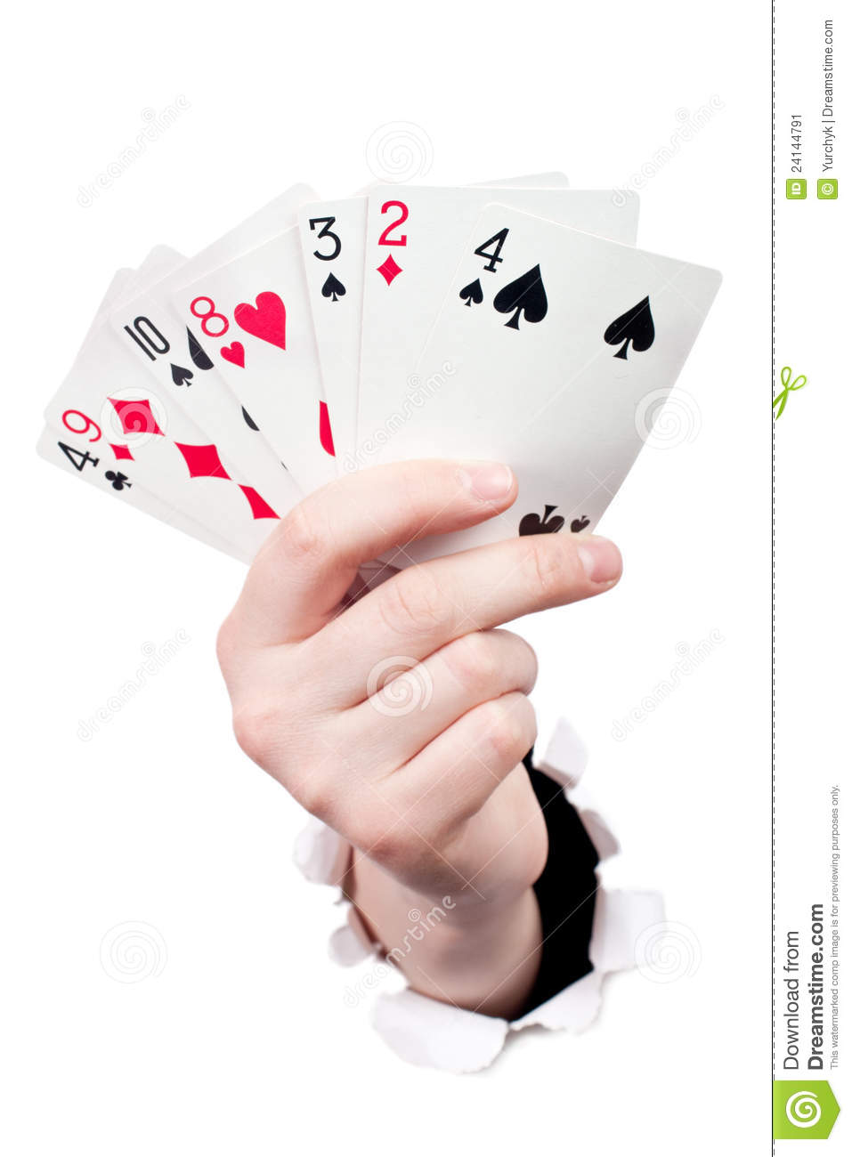 Hand Holding Playing Cards Stock Image - Image: 24144791