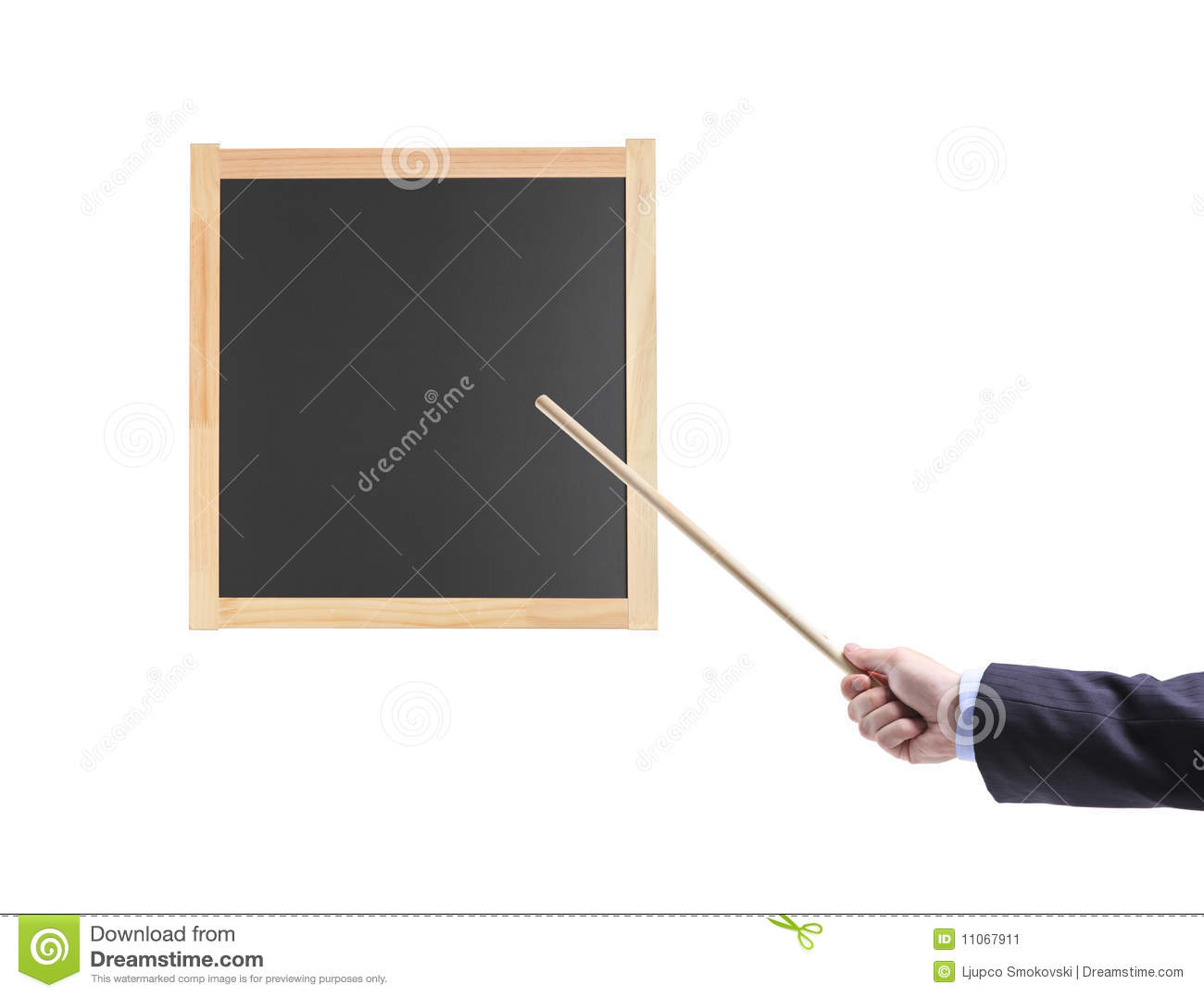 Hand Holding Stick ~ Hand holding a pointing stick stock image