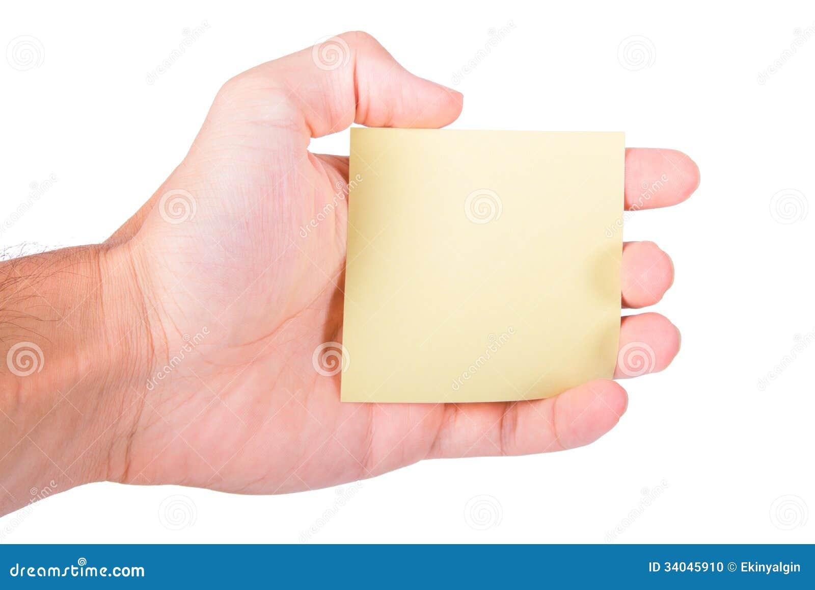 Note hand