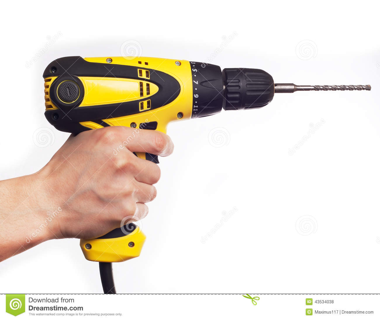hand holding power drill stock photo image of background. Black Bedroom Furniture Sets. Home Design Ideas