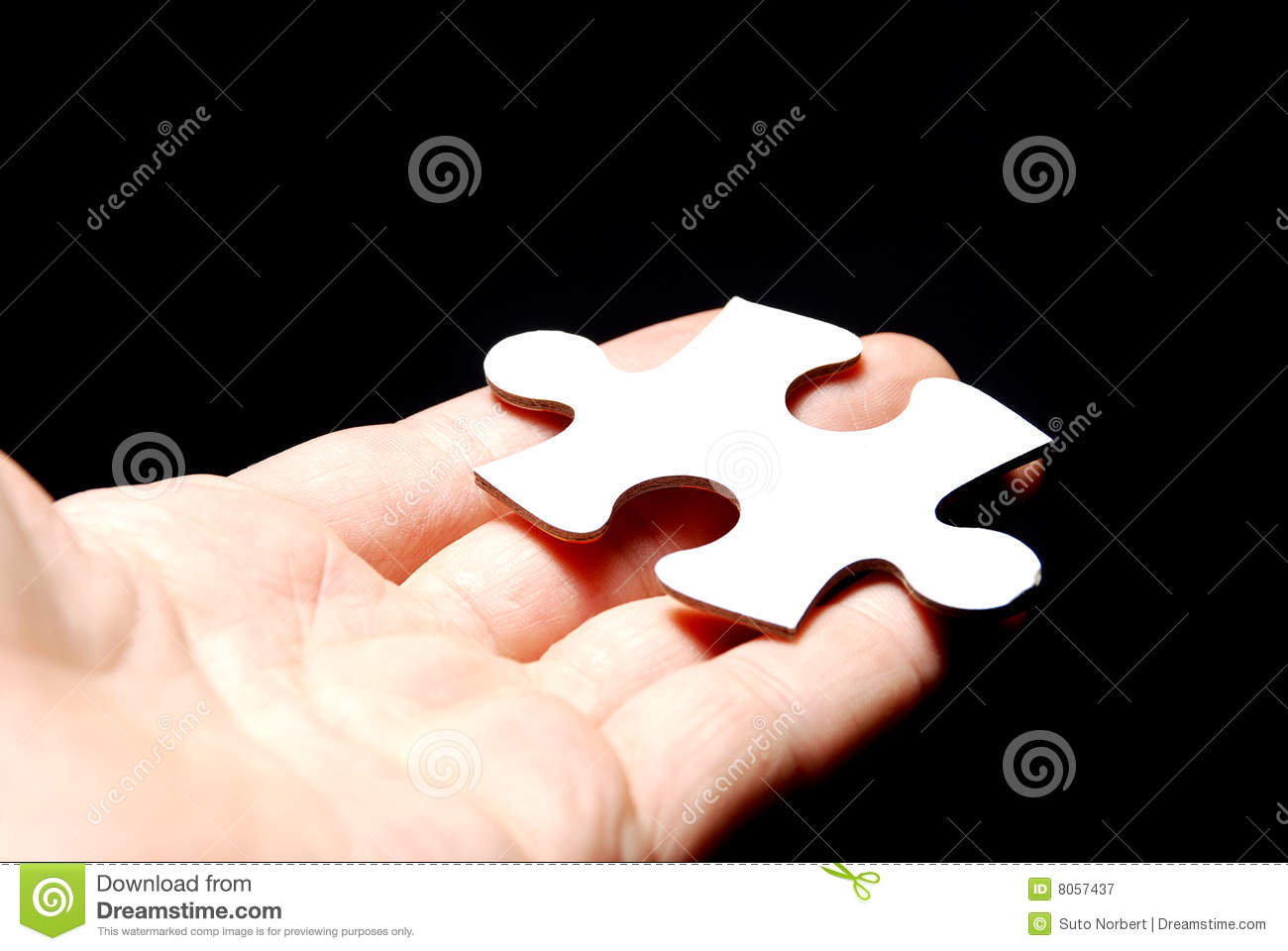 hand holding a puzzle piece stock image image of join shape 8057437