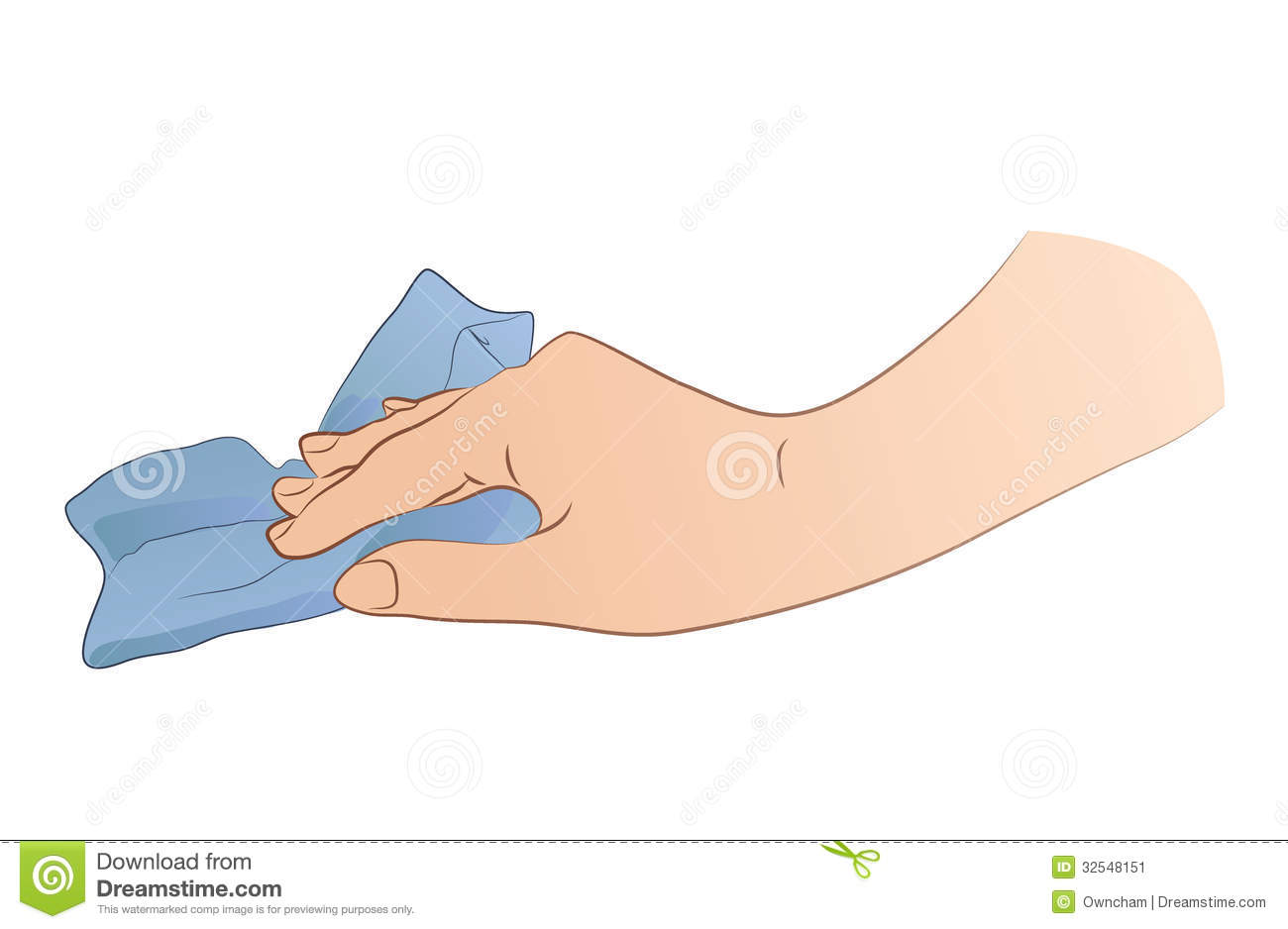 Dirty Rag Clipart Hand Holding Rag stock...