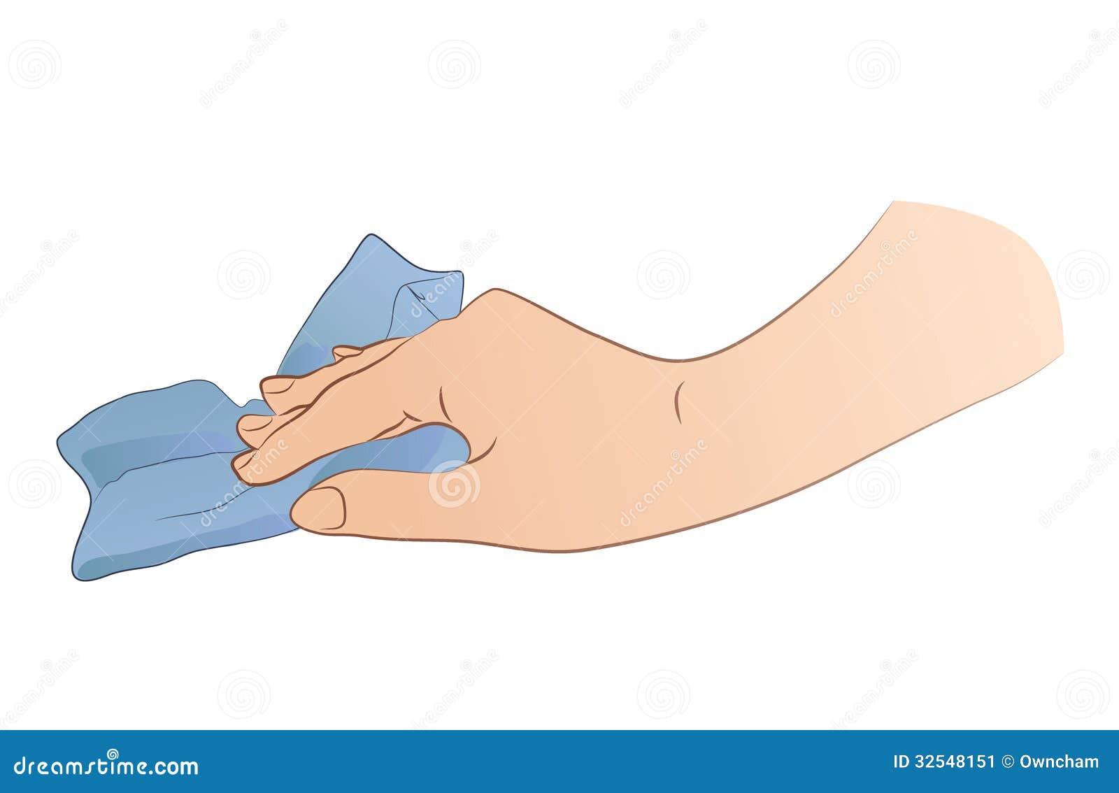 Dirty Rag Clipart Hand Holding Rag Stock...