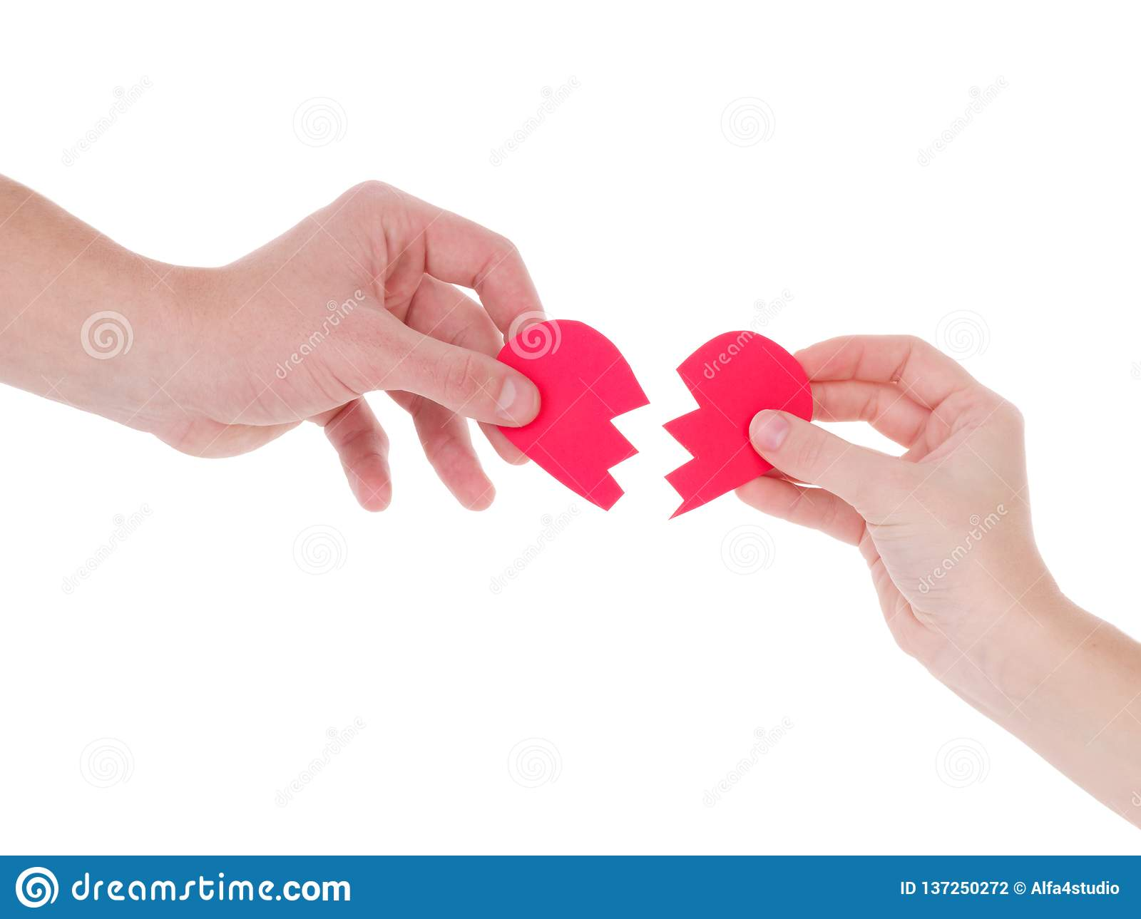Hand holding a red heart.the concept of love, Valentines day, symbol and romantic. red heart for gift