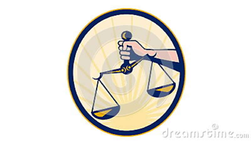 Hand Holding Scales Of Justice Retro Stock Video - Video: 34667530