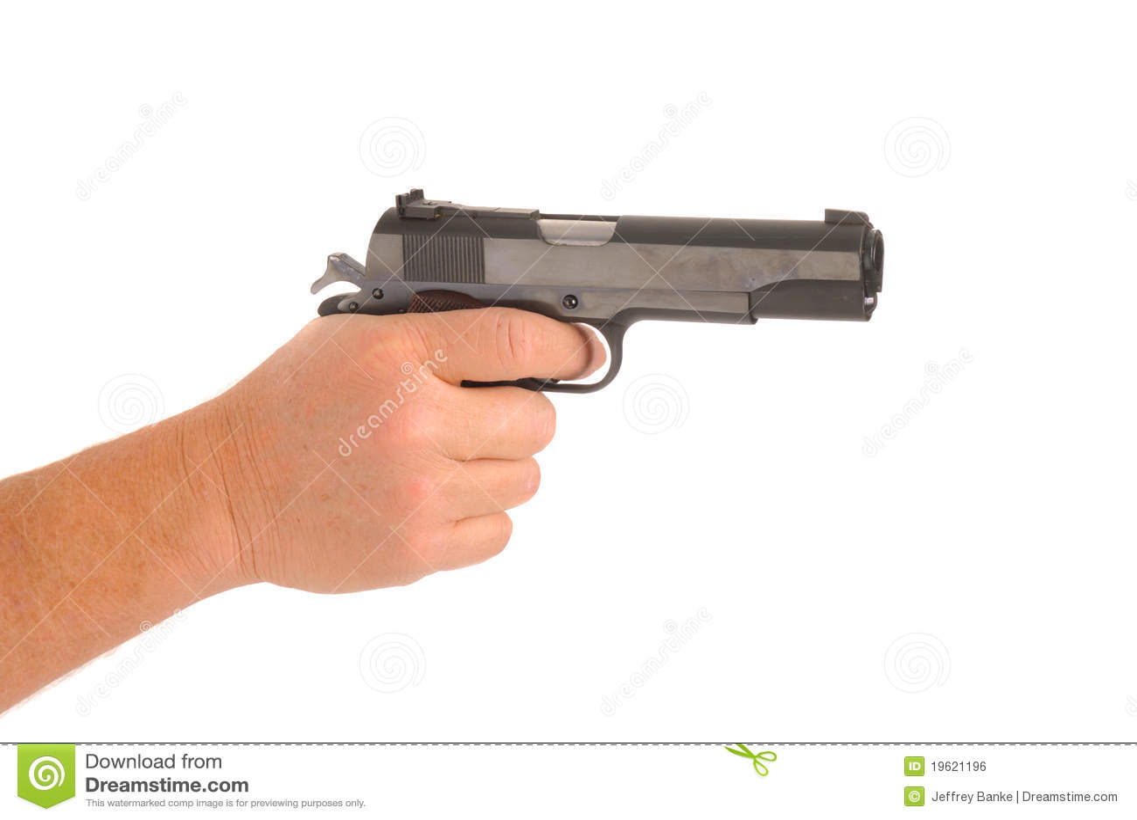 Hand Holding Semi-automatic Pistol Royalty Free Stock ...