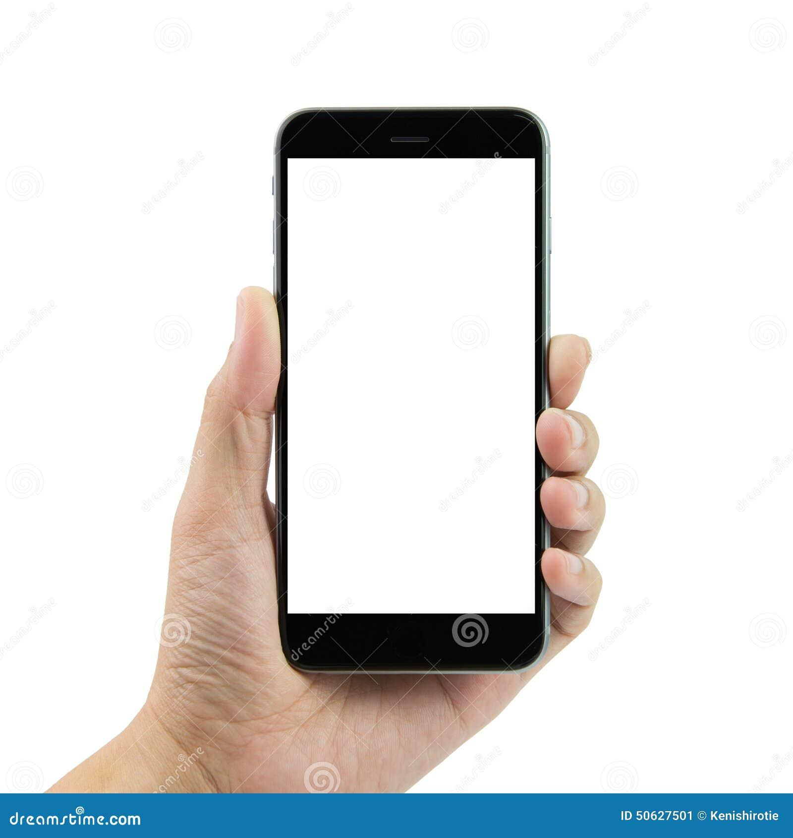 hand holding smart phone stock photo   image 50627501