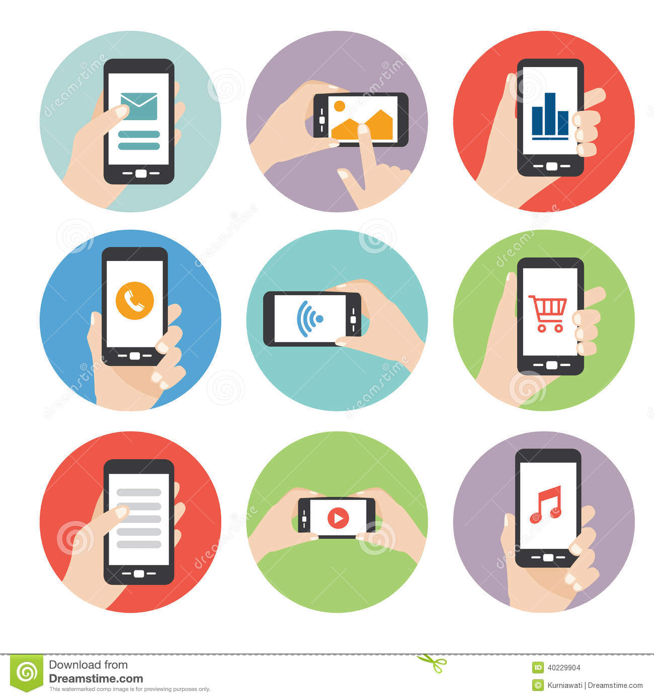 Hand Holding Smart Phone Icon Vector Stock Vector - Image ...