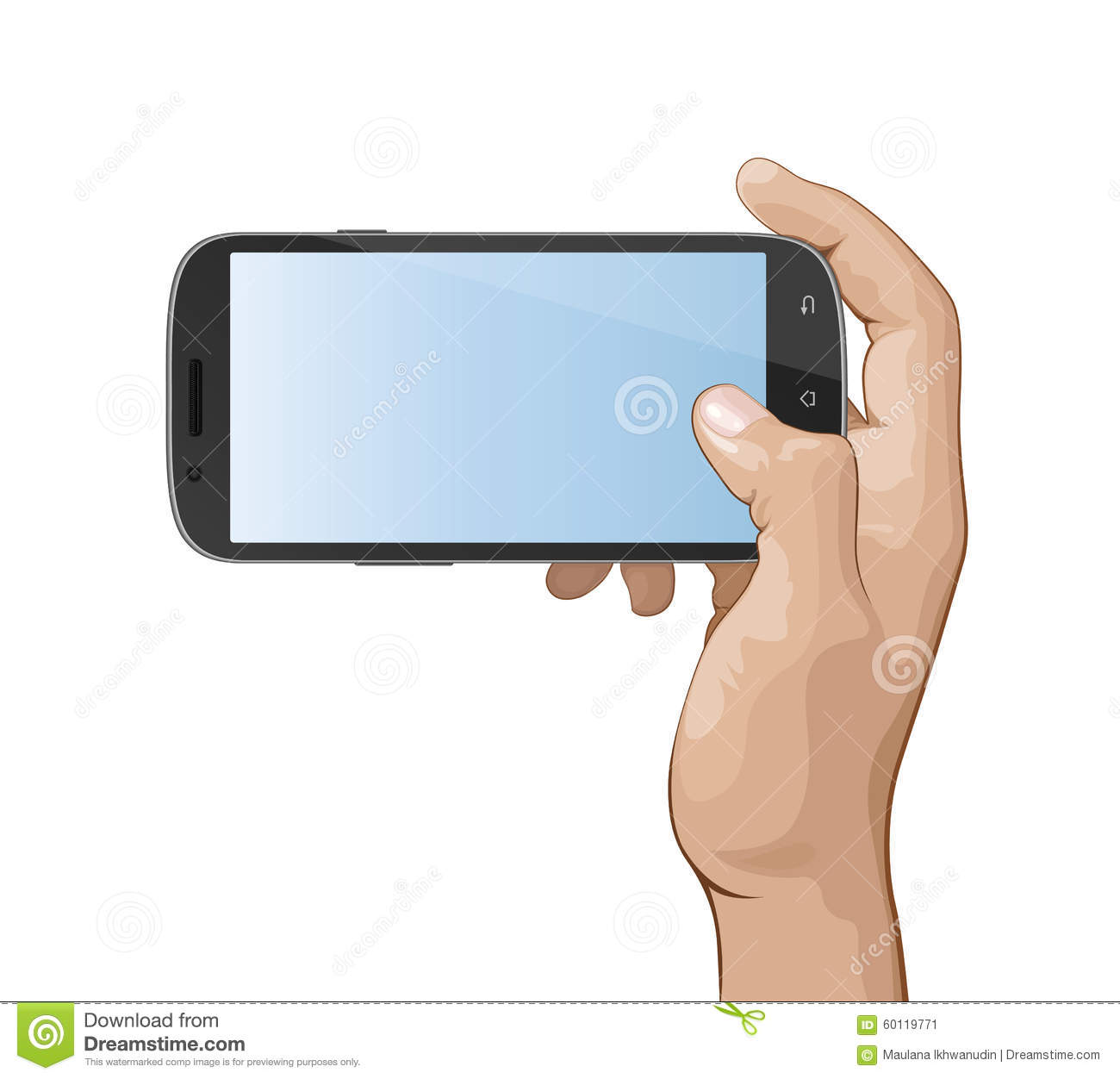 Hand Holding Smart Phone IV Stock Vector - Image: 60119771