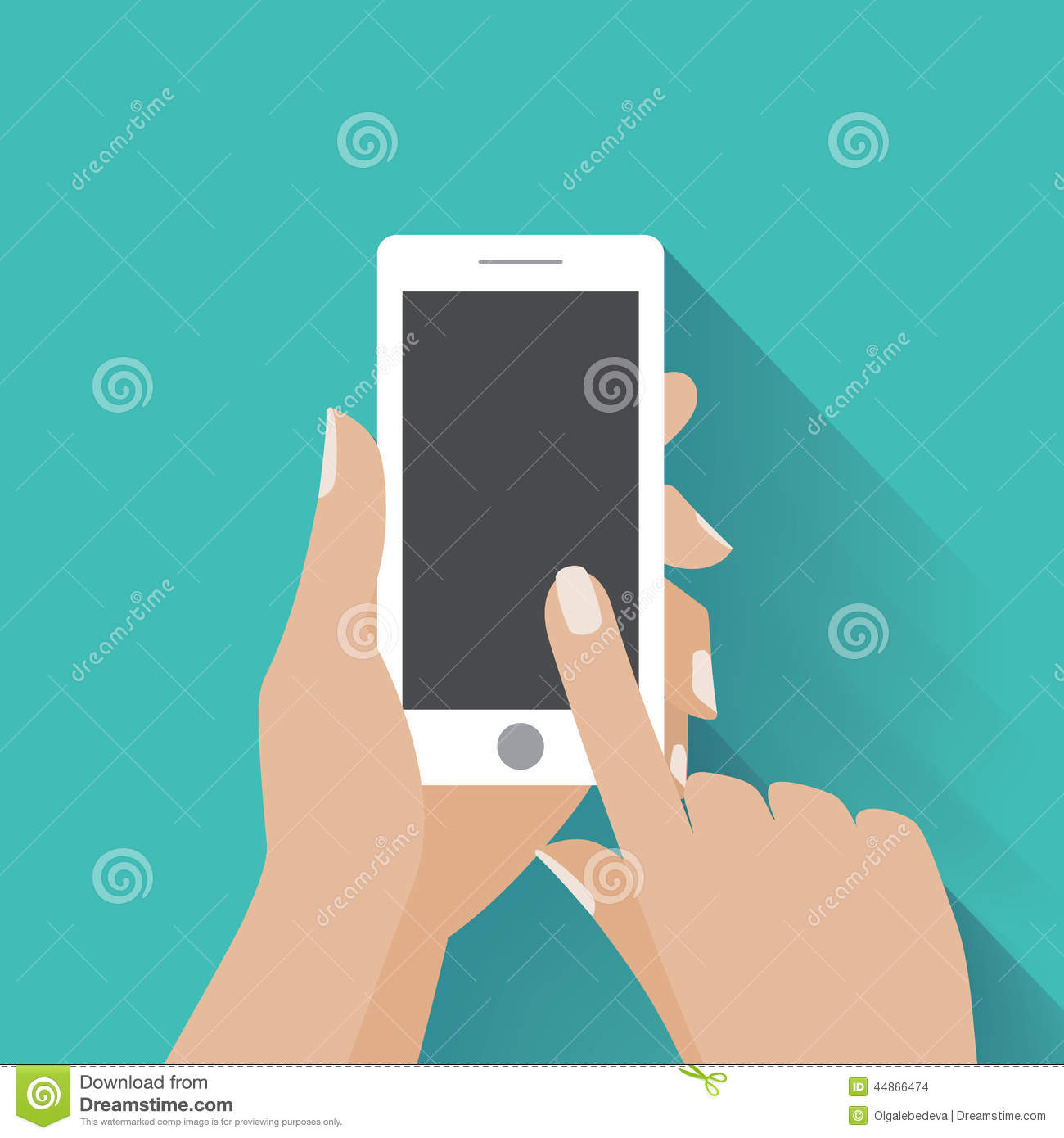 Hand Holding Smartphone With Blank Screen Stock Vector ...