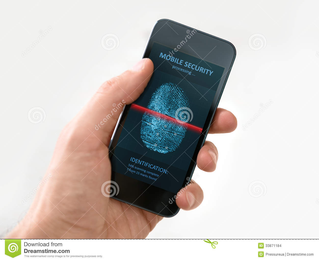Hand Holding Smartphone With Mobile Security Application