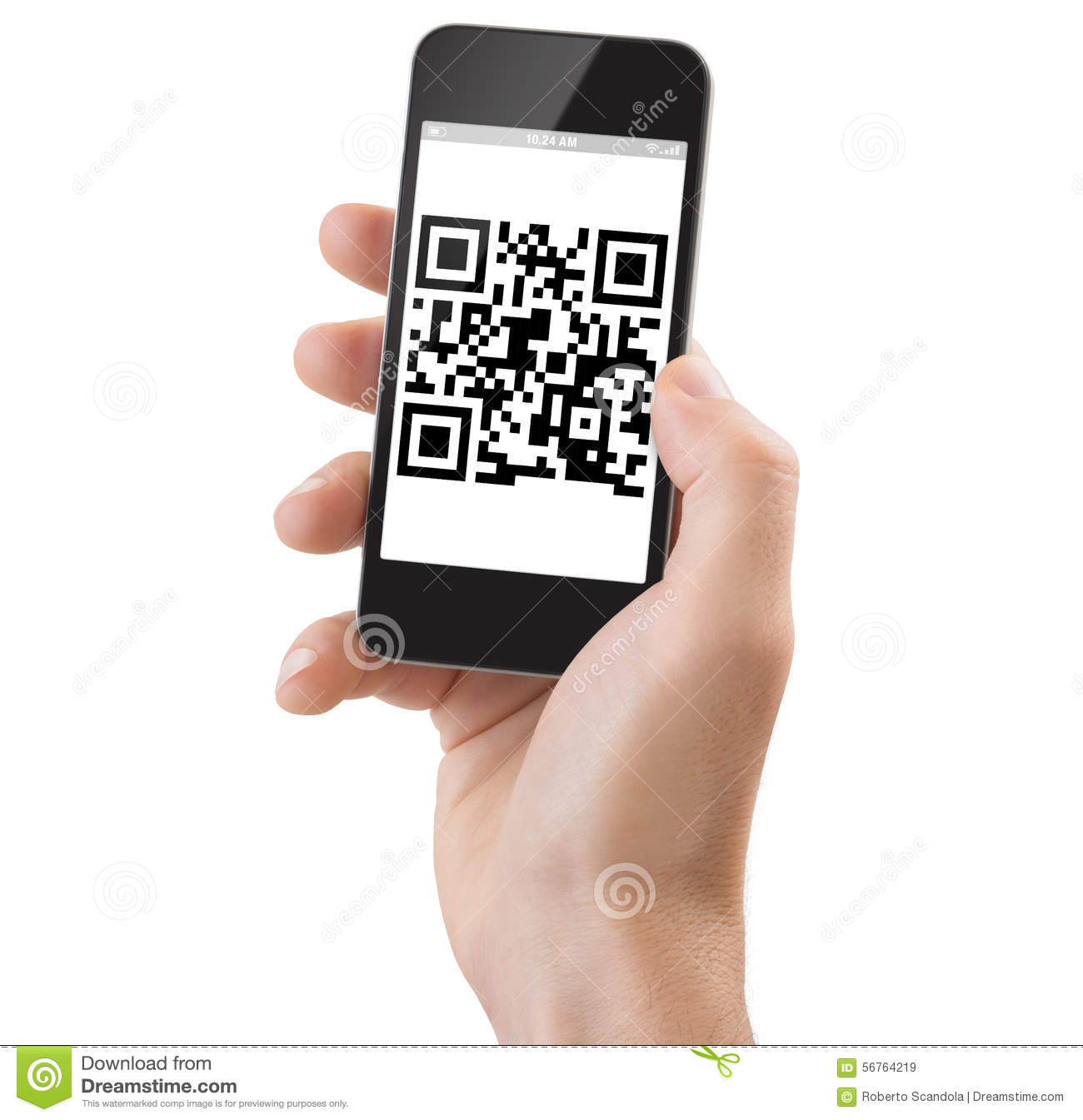 Scanning Empty Barcode Macro Closeup Isolated Royalty Free
