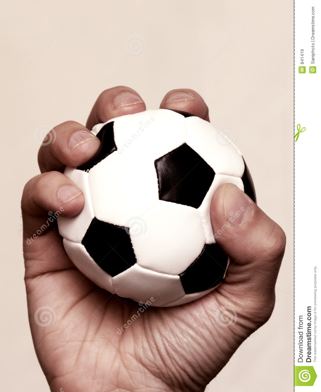 Hand Holding Soccer Ball Royalty Free Stock Images - Image: 841419