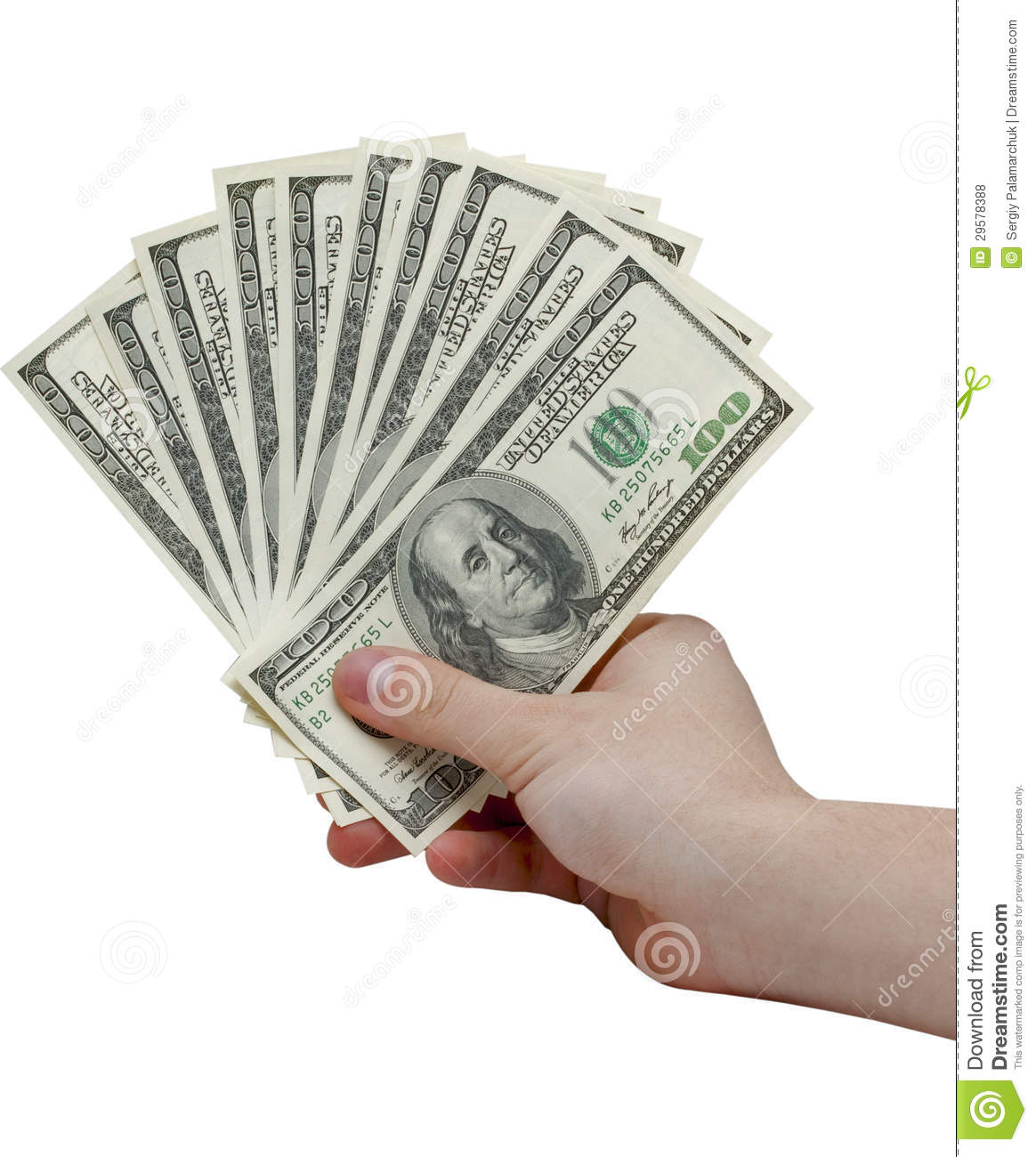Hand Holding A Stack Of Cash Royalty Free Stock Photos ...Holding Money In Hand