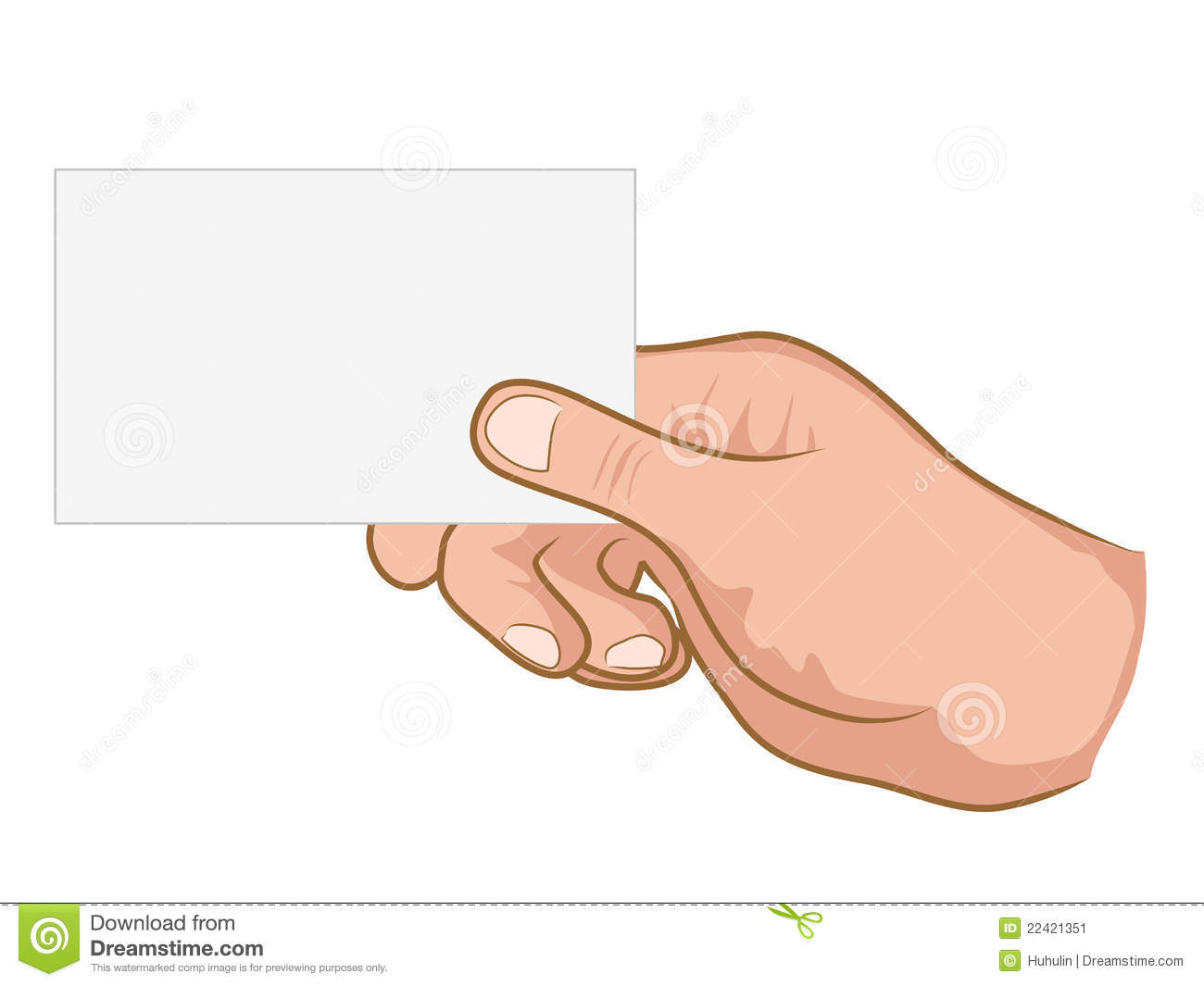 Hand Holding A White Paper Stock Image - Image: 22421351