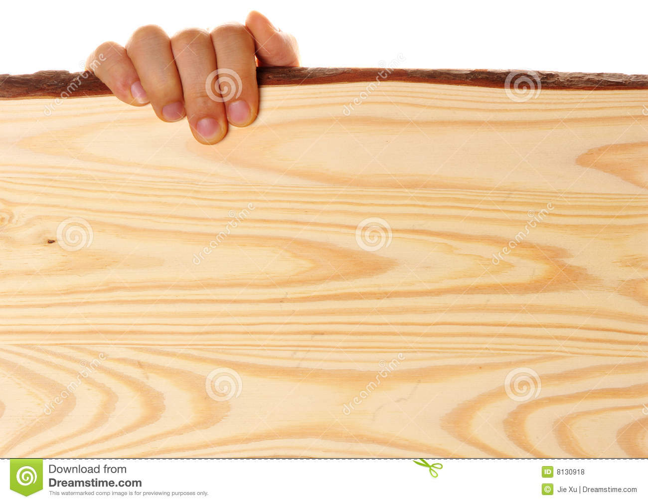 Hand holding wood board on white background, you can put your text on ...