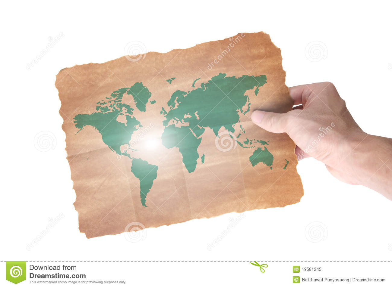 Hand Holding A World Paper Map Royalty Free Stock Photo Image 19581245