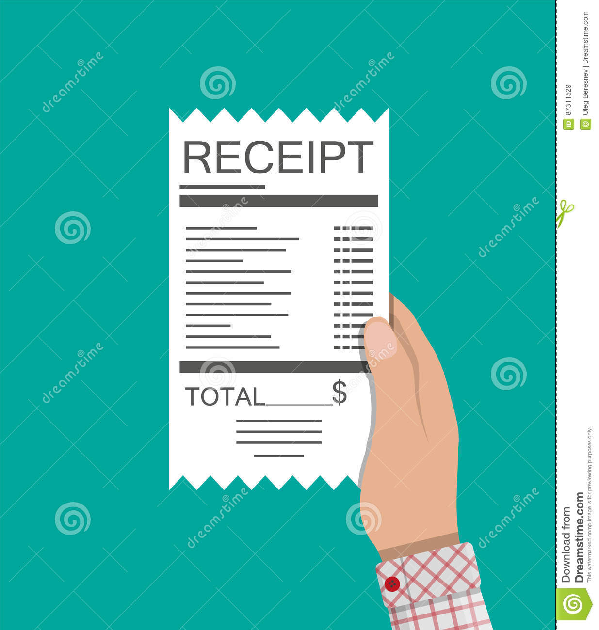 man holds invoice of electric  stock photography