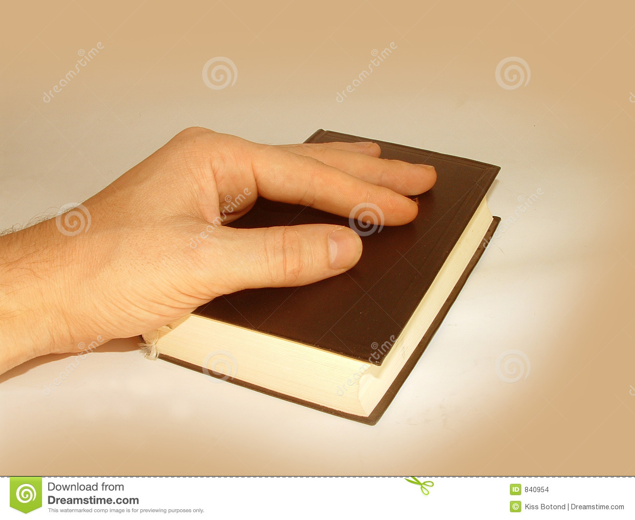 Hand on Holy Bible