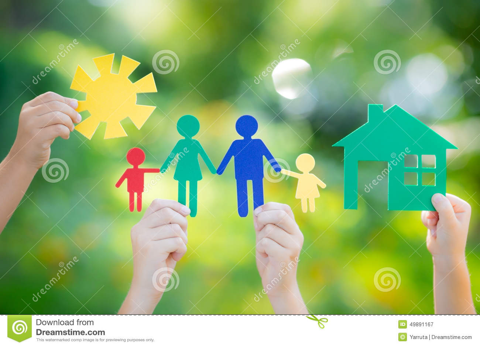 In hand huis en familie