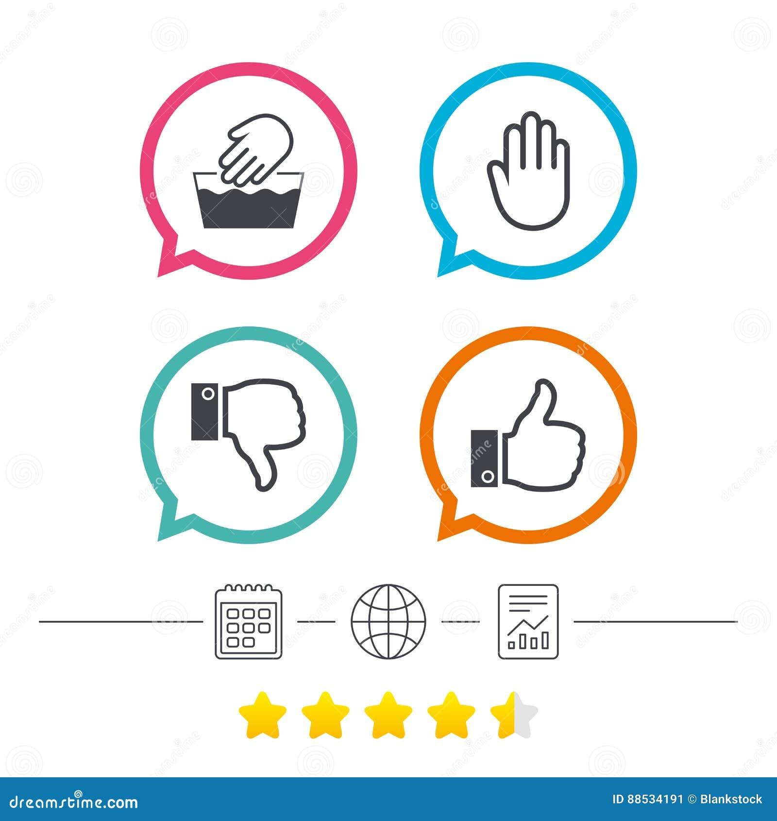 Hand icons like and dislike thumb up symbols stock vector hand icons like and dislike thumb up symbols buycottarizona