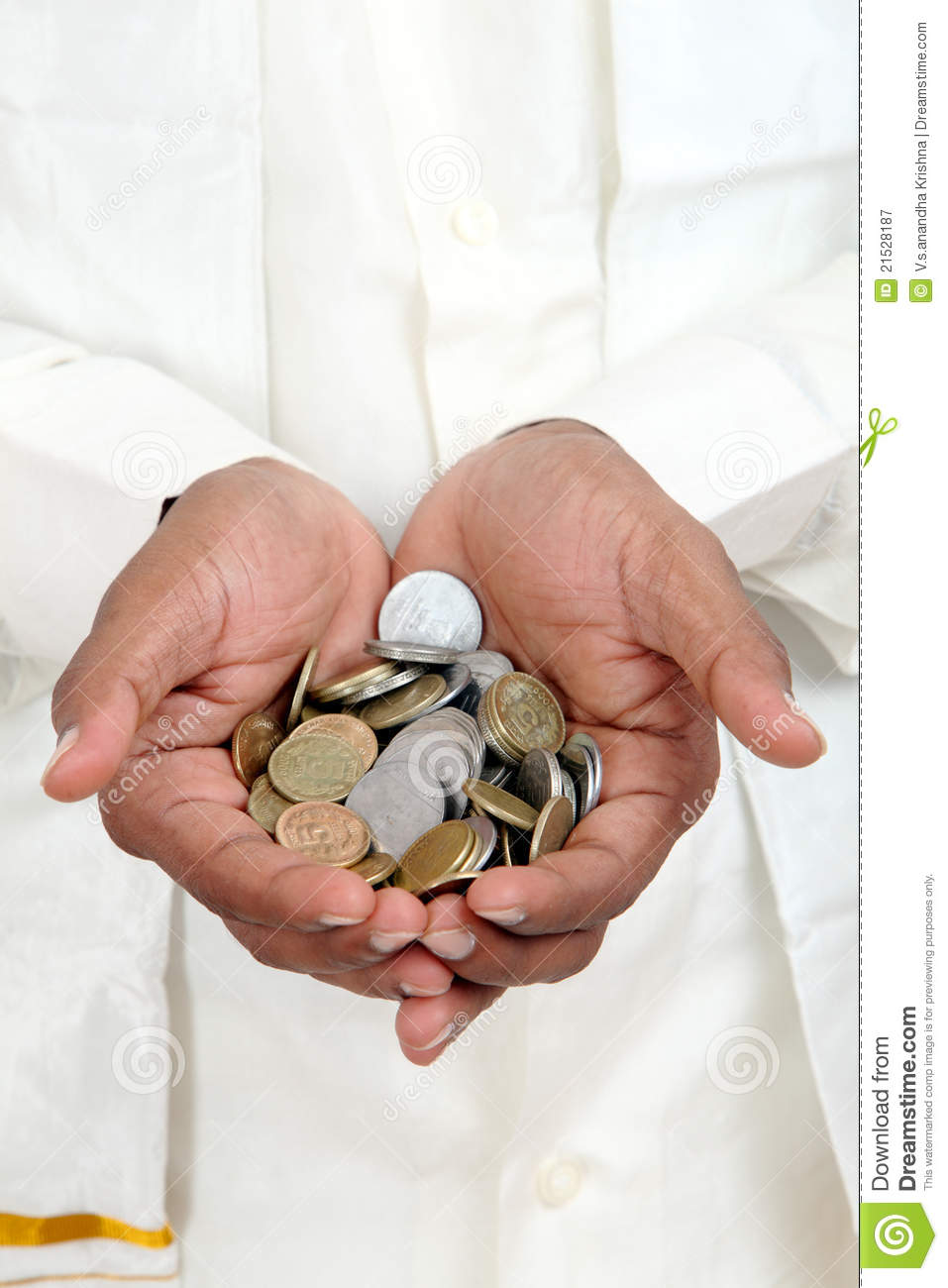 Hand With Indian Rupee Coins Stock Image - Image of bank, loan: 21528187