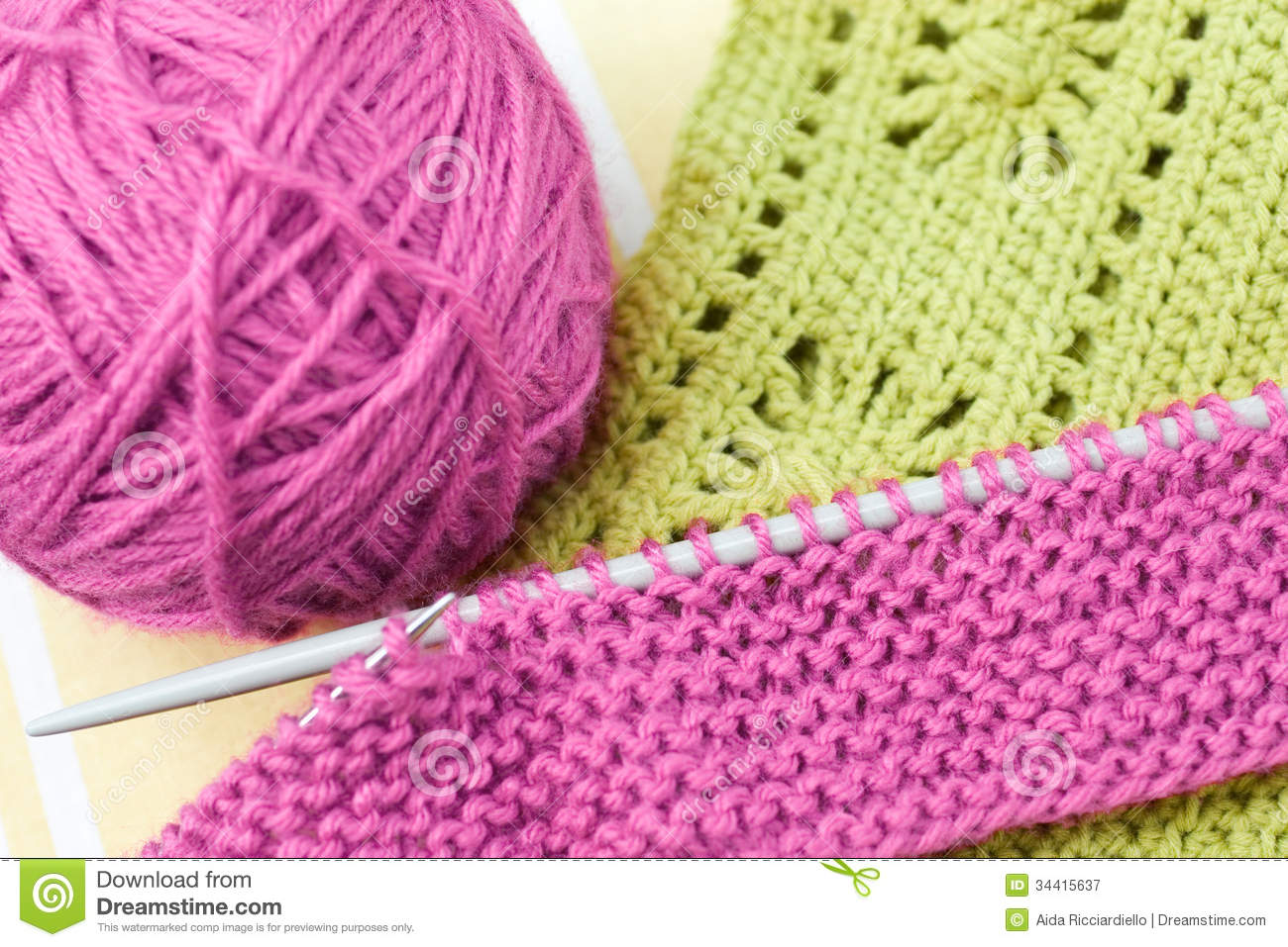 Knitting Works : Hand knitwork royalty free stock photography image