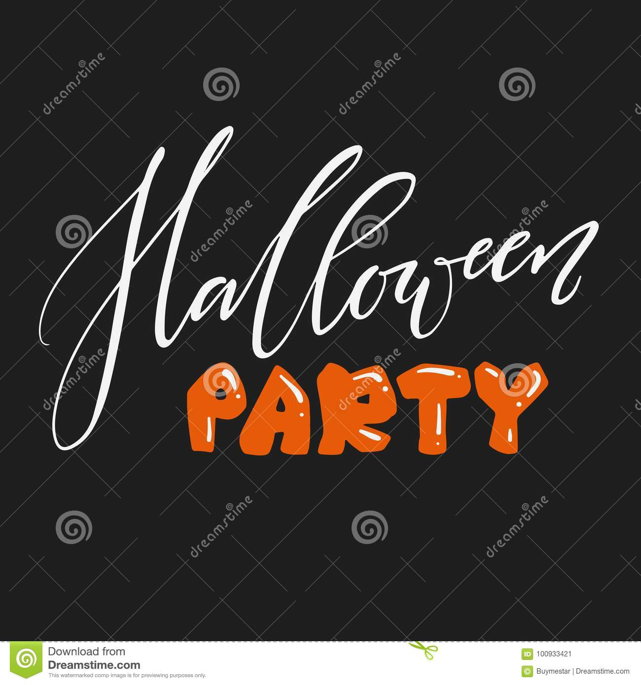 Hand lettered halloween party invitation card vector print stock download hand lettered halloween party invitation card vector print stock vector illustration of stopboris Choice Image
