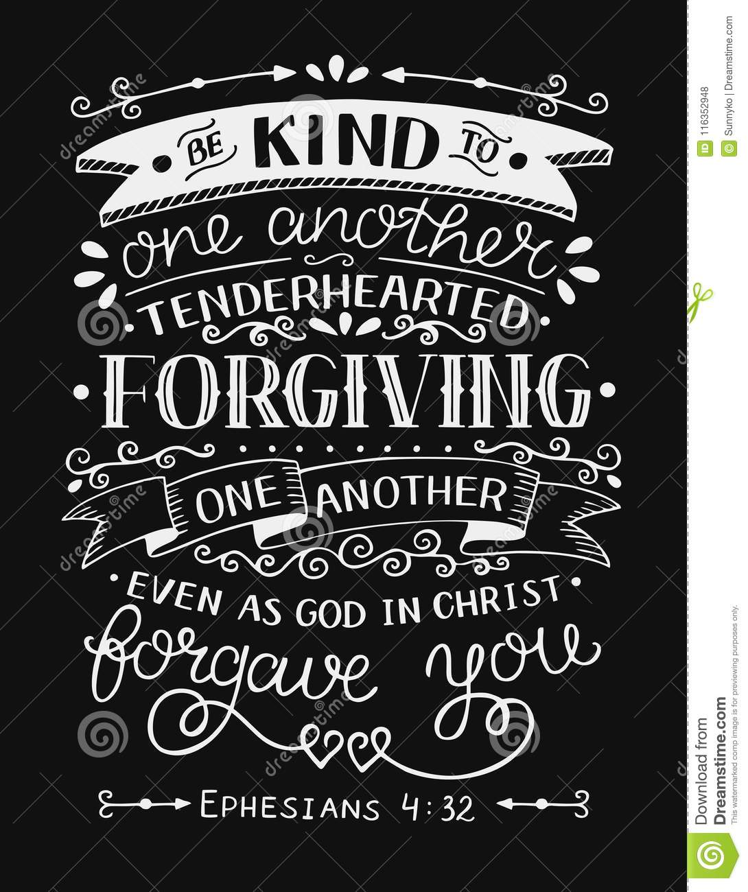 Download Hand Lettering With Bible Verse Be Kind To One Another ...
