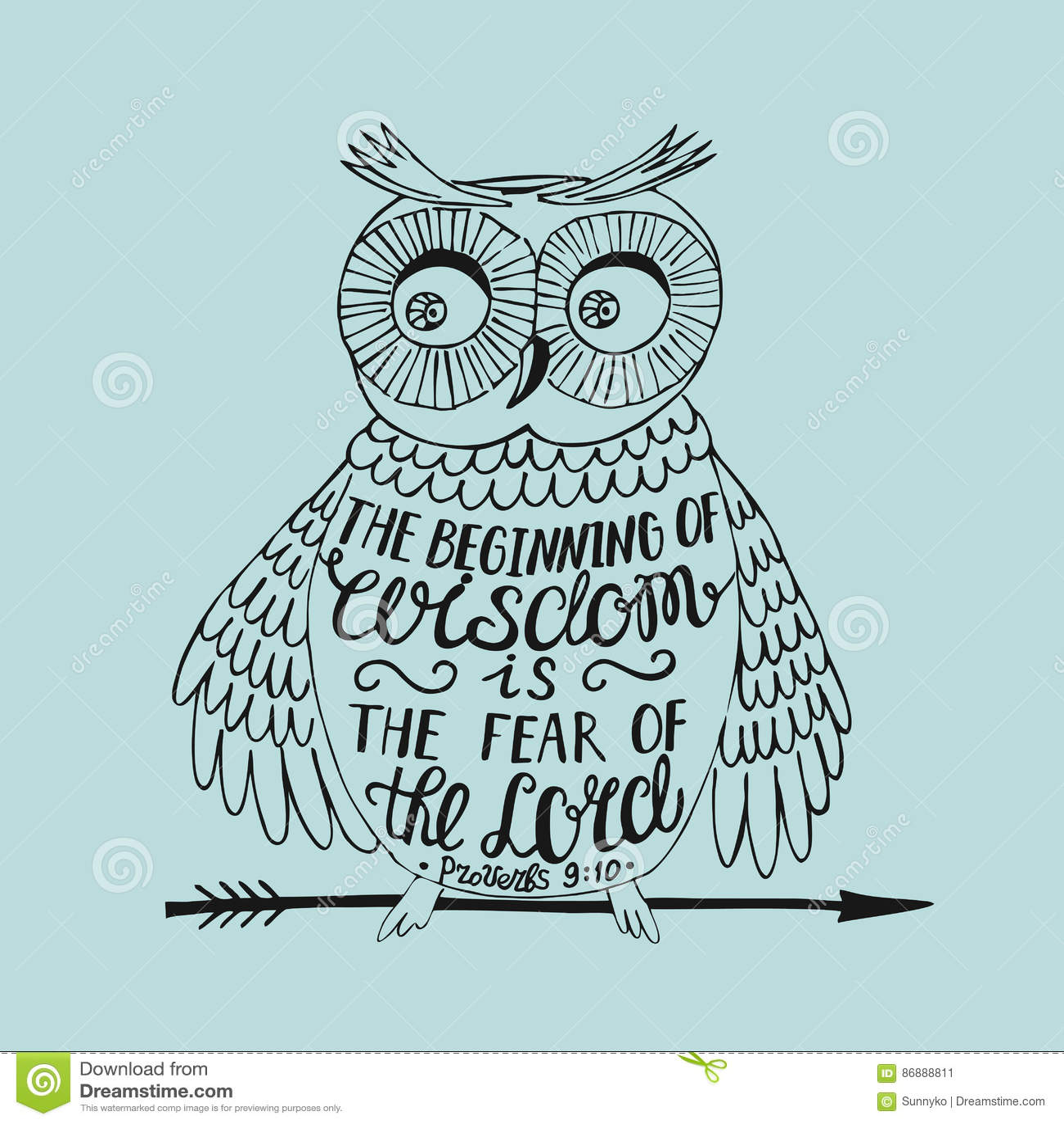 Citaten Over Uilen : Hand lettering the beginning of wisdom fear