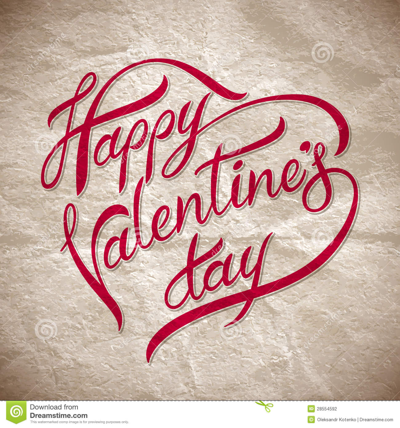 Hand Lettering Happy Valentines Dayi Stock Vector Illustration