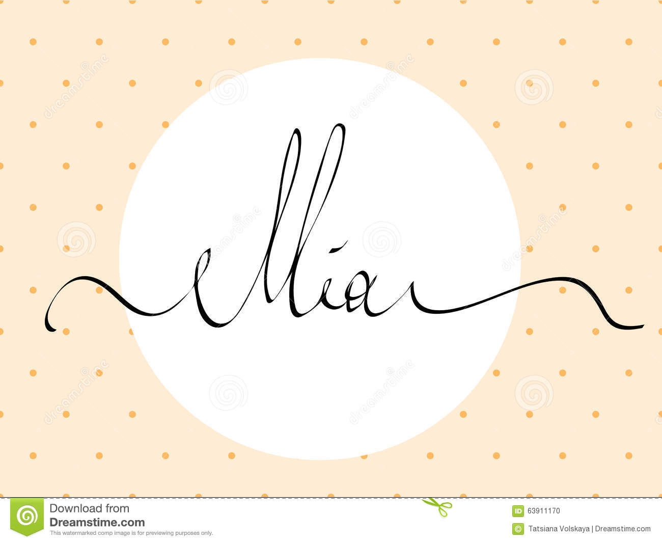 hand lettering personal name  handmade calligraphy  stock