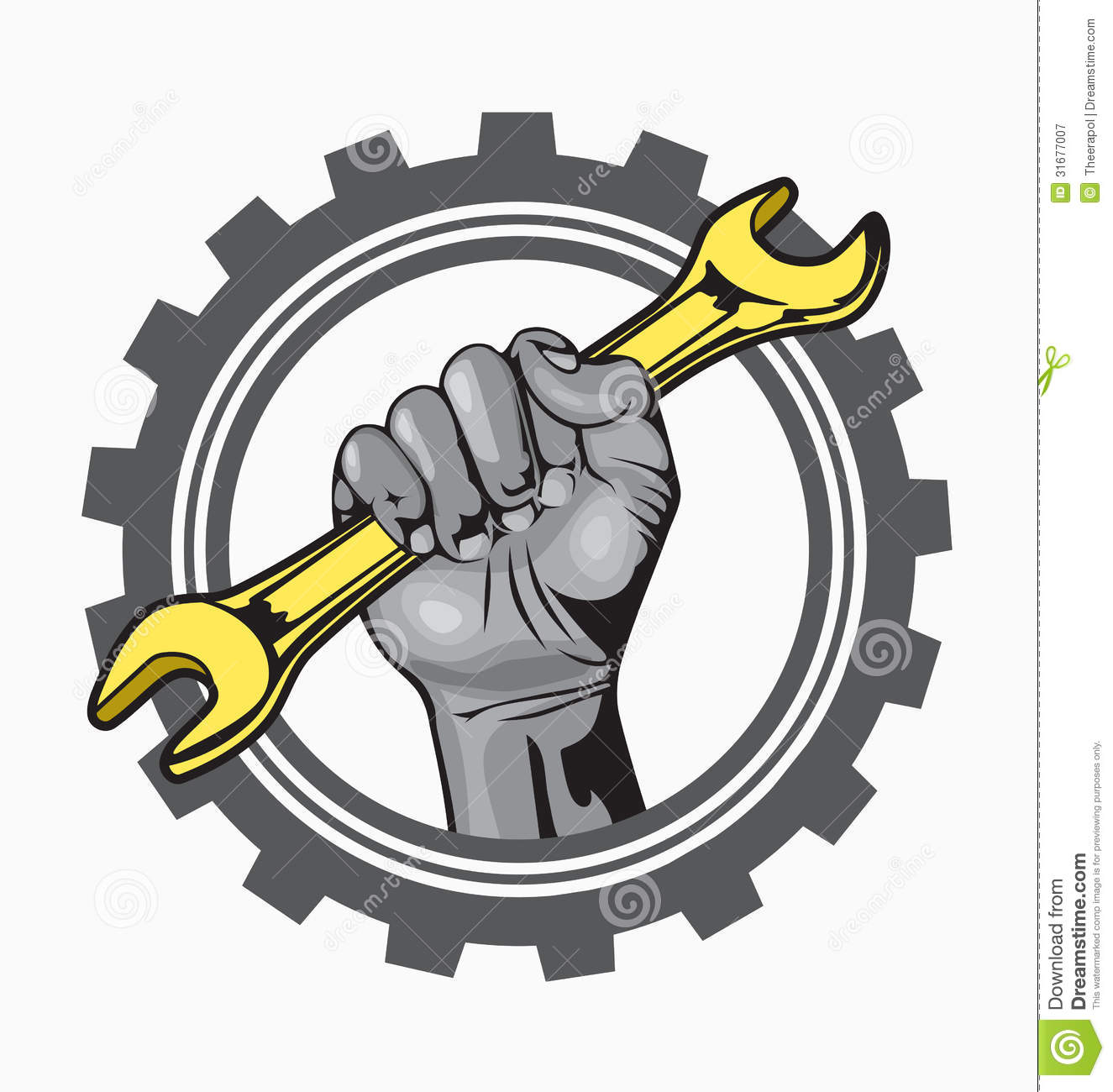 hand logo royalty free stock photography image 31677007 auto mechanics clip art free auto mechanics clip art free