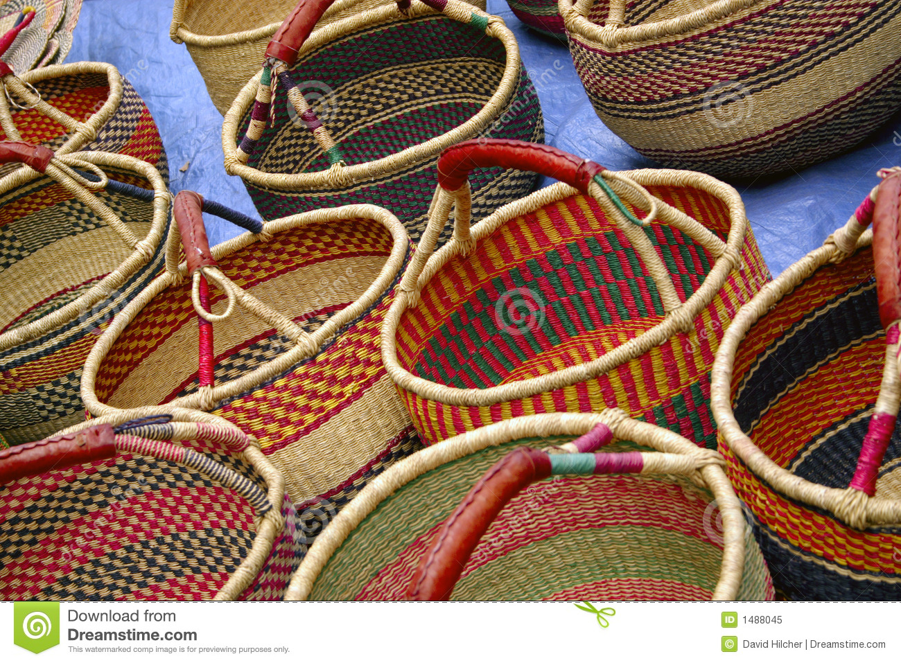 Handmade Baskets In Charleston : Baskets made with rushes typical handmade crafts of