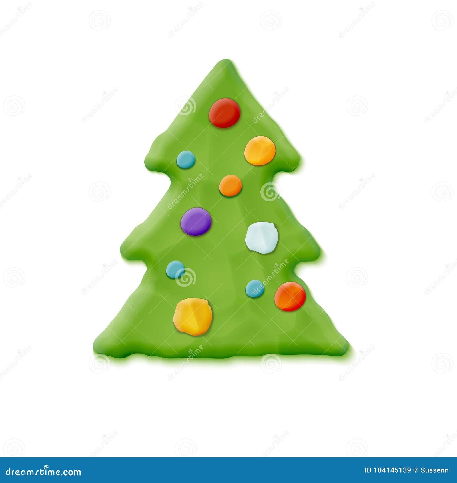 Hand Made Christmas Tree stock vector. Illustration of hand - 104145139