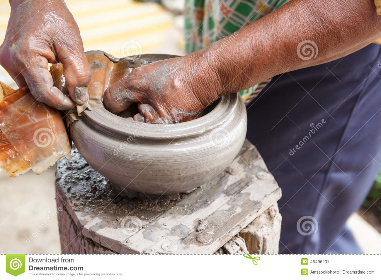 how to make a clay pot by hand
