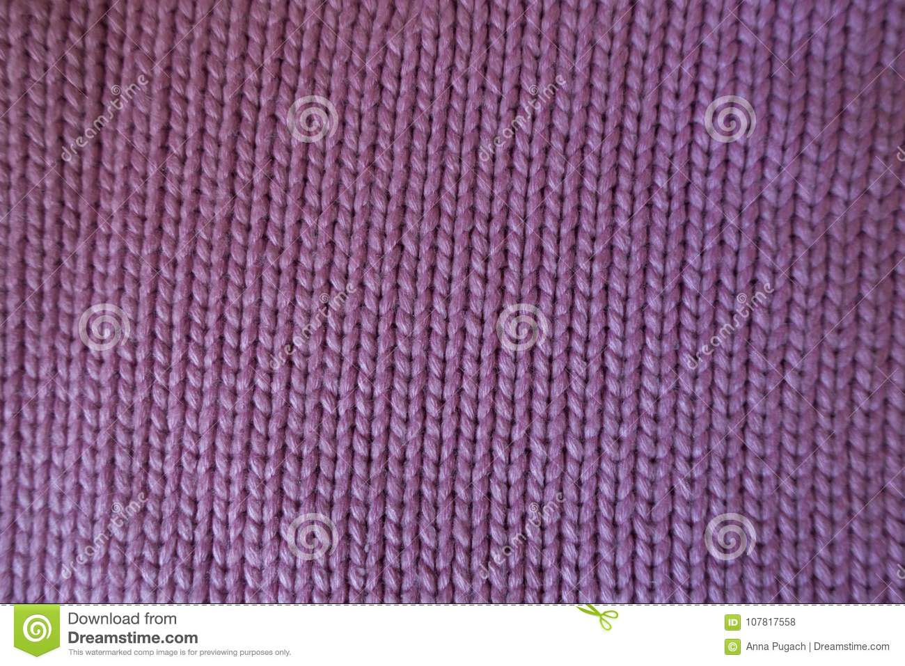 Hand Made Pink Plain Knit Stitch Fabric Stock Photo Image Of