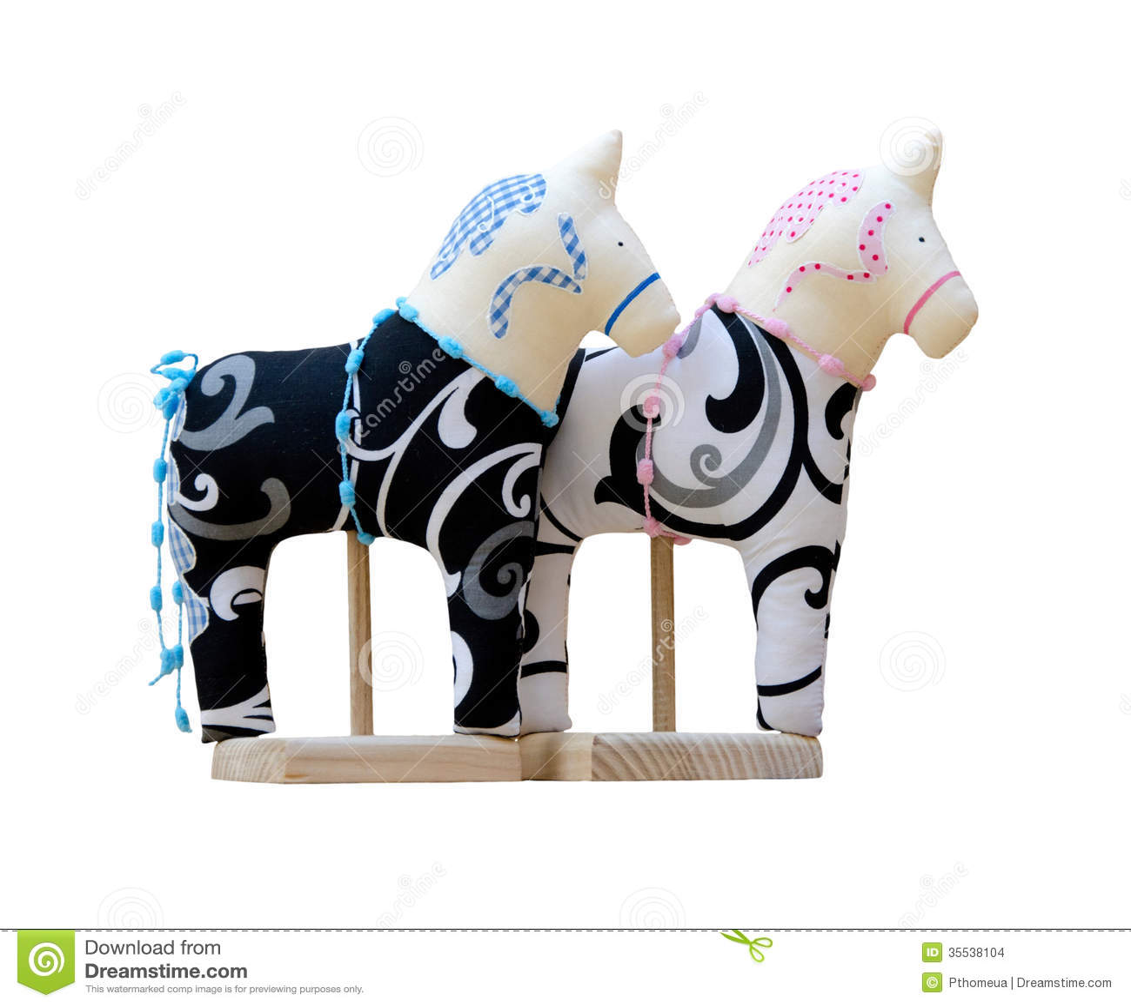 Soft Toy Horse Vector Illustration