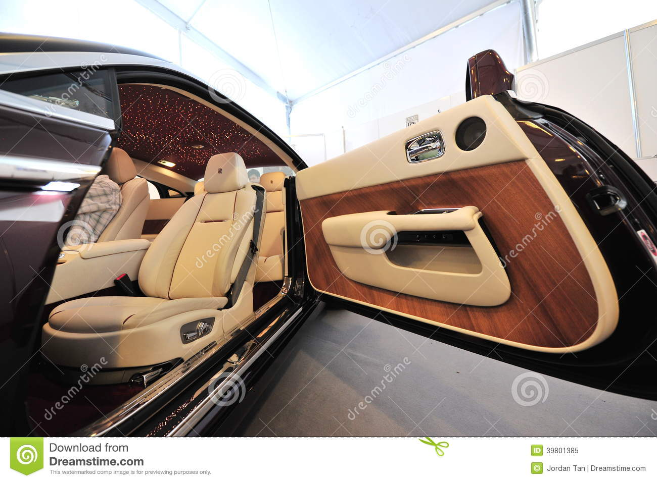 Hand Made Unique Interior Of The Rolls Royce Wraith On Display During Singapore Yacht Show At One Degree 15 Marina Club Editorial Image Image Of Leather Display 39801385