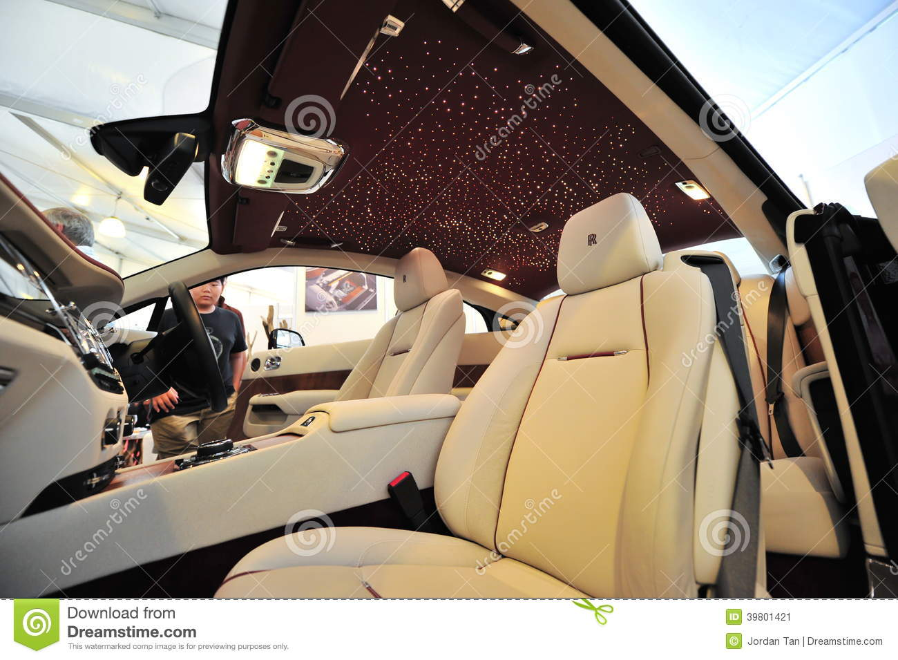 Hand Made Unique Interior Of The Rolls Royce Wraith On Display During Singapore Yacht Show At One Degree 15 Marina Club Stock Photo 39801421 Megapixl