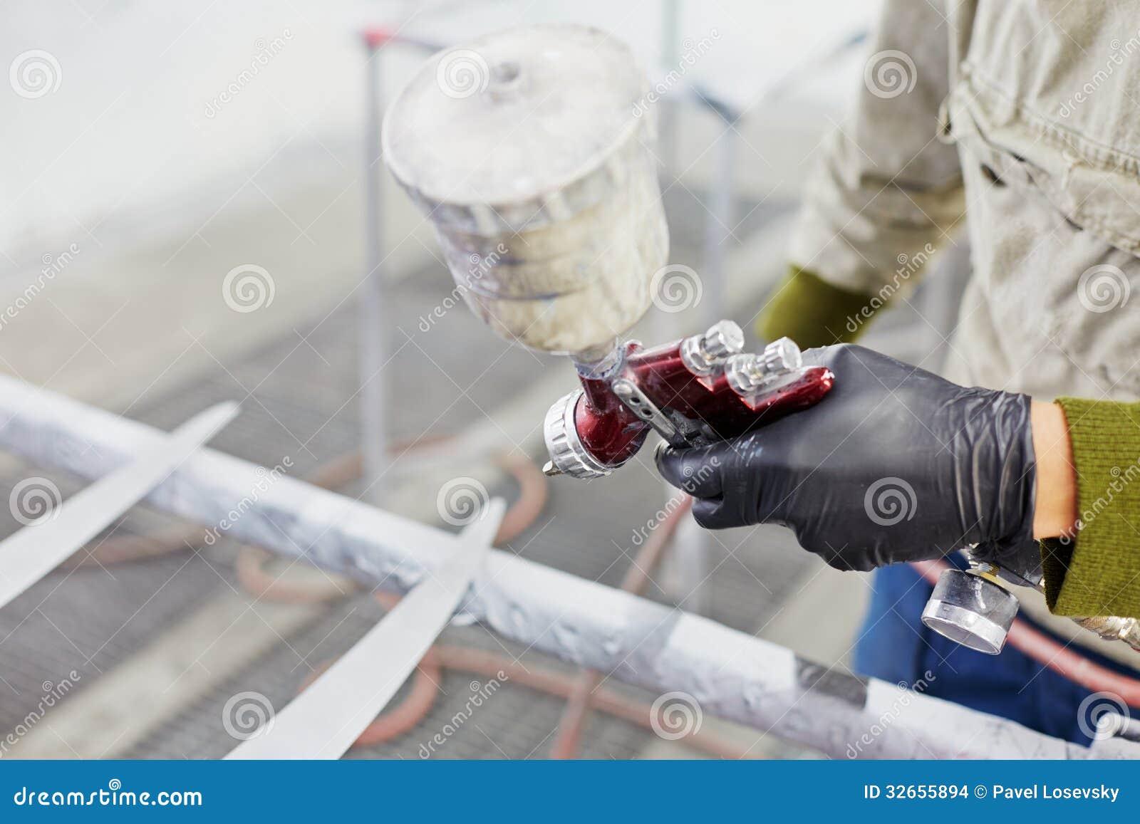 Spray Painting Glove Hand