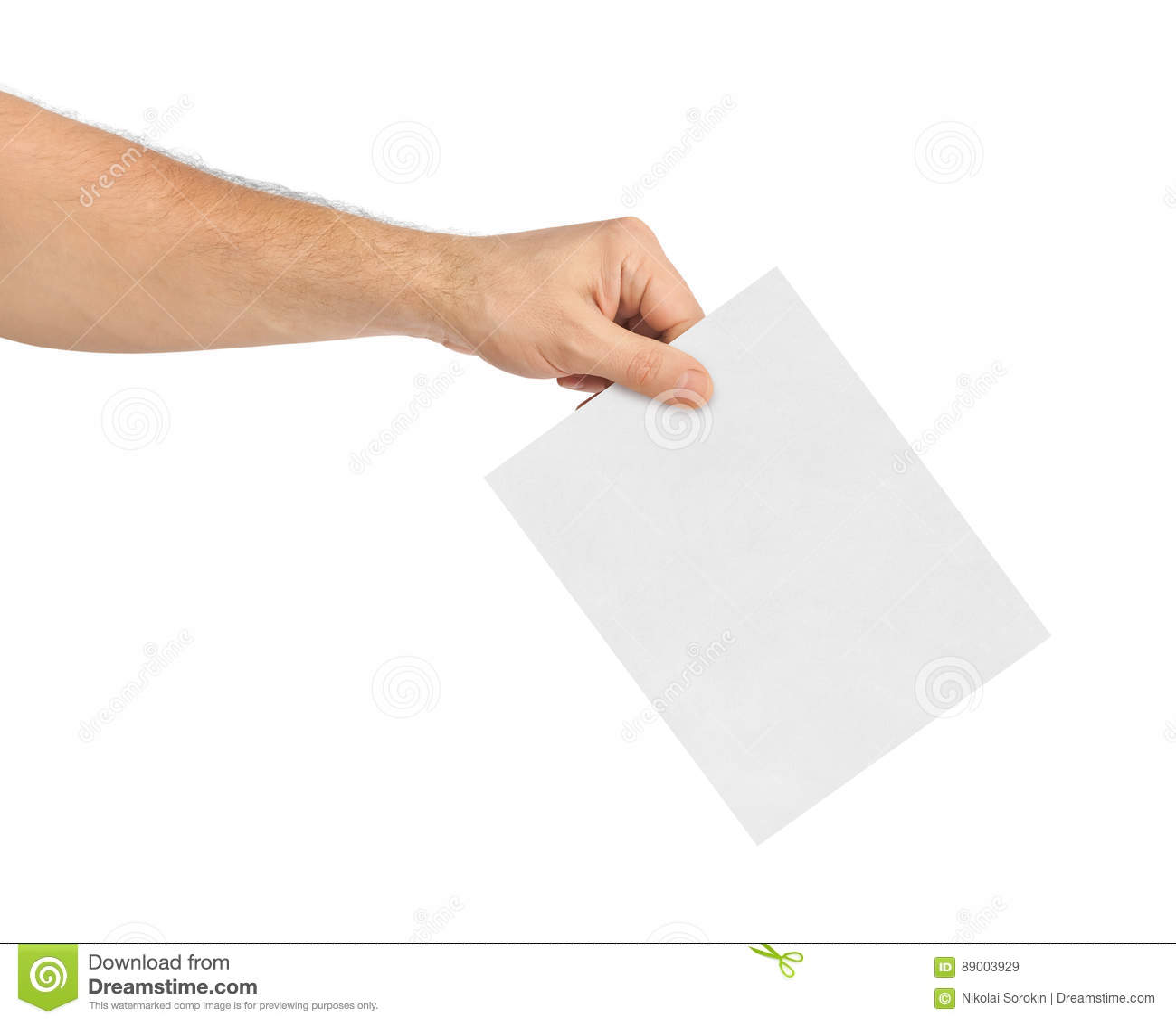 Hand med pappers- sluten omröstning