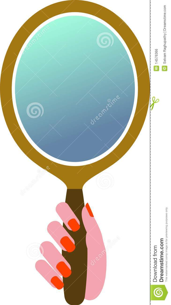 Hand Mirror Royalty Free Stock Image Image 14576366