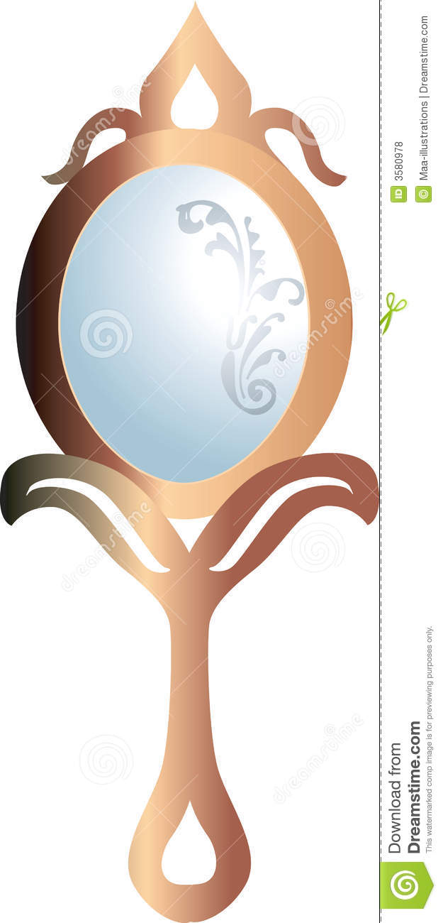 Hand Mirror Stock Vector Image Of Beautiful Straight