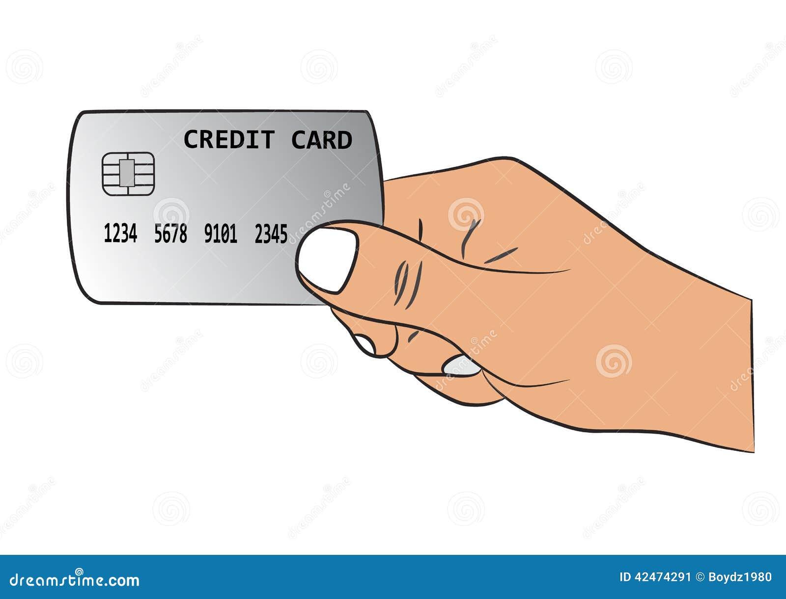 Hand mit der Kreditkarte
