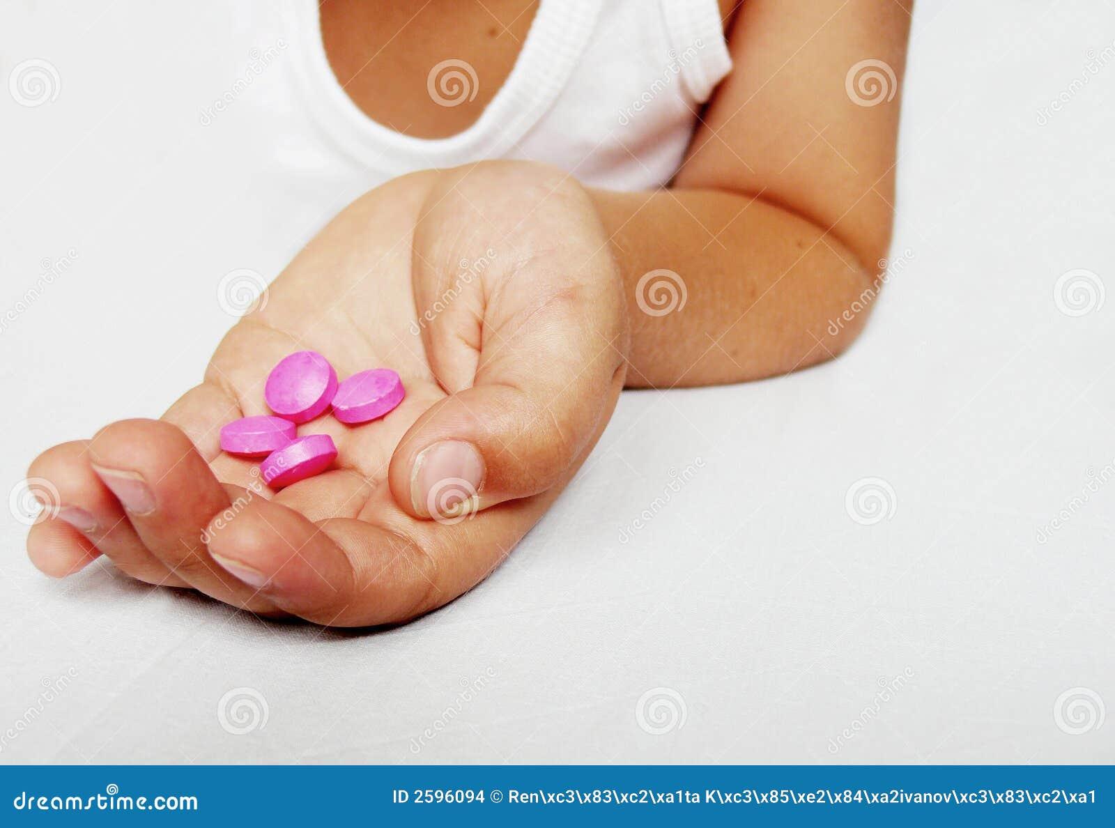 Hand mit pharmazeutischem