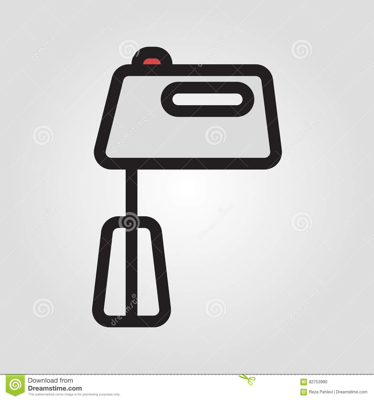 Hand Mixer Icon In Trendy Flat Style Isolated On Grey Background
